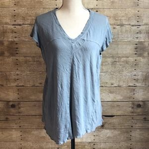 WE THE FREE | FREE PEOPLE | TATTERED SS TEE | BLUE